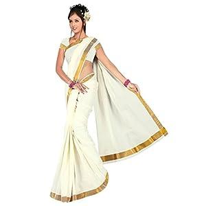 E-Vastram Cotton Saree (Kcp _White)