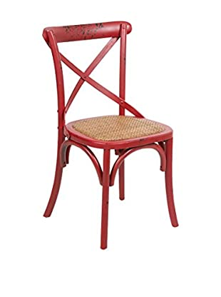 COLONIAL CHIC Stuhl rot