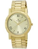 Titan Analog Gold Dial Men's Watch - 1644YM02