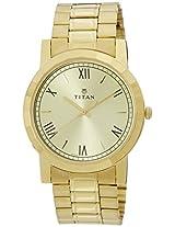 Titan Analog Gold Dial Men's Watch - 1644YM02