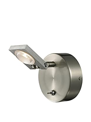 Artistic Lighting Reilly Collection 1-Light LED Bath, Brushed Nickel/Aluminum