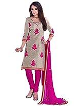 Manvaa Salwar Suit with Chanderi Santoon Chiffon fabric