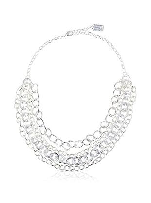 Karine Sultan Jewelry Triple Row Link Chain Necklace