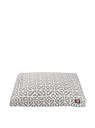 Aruba Small Rectangle Pet Bed, Grey