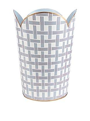 Jayes Basketweave Tulip Wastebasket, Grey