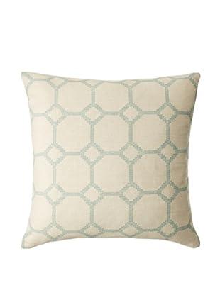 The Pillow Collection Kaleph Tile Decorative Pillow, Aqua, 18