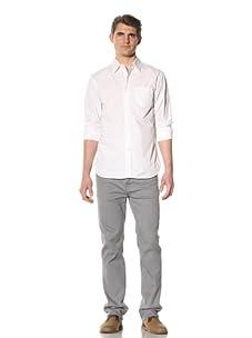 Just A Cheap Shirt Men's Cruz Button-Up Shirt (White)