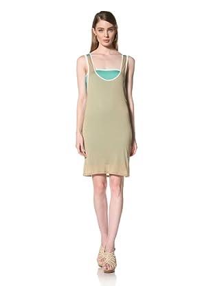 Loomstate 321 Knits Women's Shira Convertible Tank Dress (Khaki/Green)