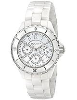 Akribos XXIV Women's AK544WT Ceramic Multi-Function Bracelet Watch