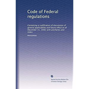 【クリックでお店のこの商品のページへ】Code of Federal regulations (Vol.6122) [ペーパーバック]
