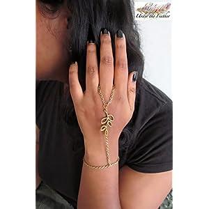 Under the Feather Hand Chain- Bronze Branch