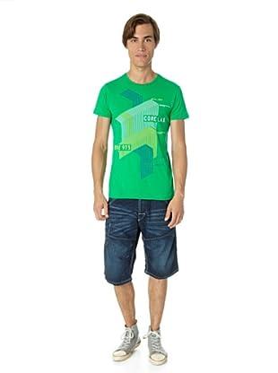 JACK & JONES Camiseta Stair slim fit (Verde)