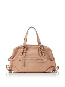 Nanette Lepore Women's Adjustable Front Zip Satchel (Pale Pink)