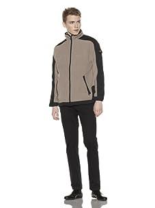 Wellensteyn Men's Jet-Jacket MicroFleece Jacket (Basalt/Black)