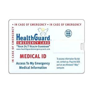 HealthGuard Emergency Card