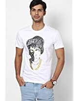 White Slim Fit Round Neck T-Shirt