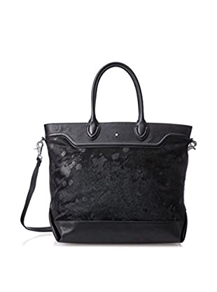ASH Women's Smith Tote Bag, Black Haircalf