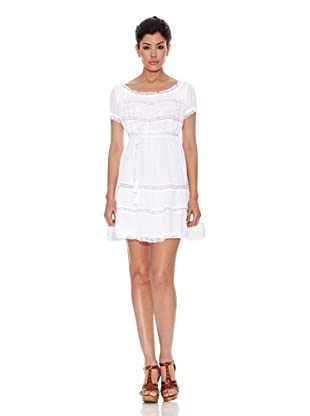 Peace & Love Vestido Taft (Blanco)
