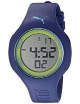 PUMA Unisex PU910801039 Loop L blue green Digital Display Watch