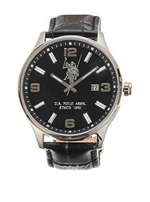 U.S. POLO ASSN. Uhr mit japanischem Quarzuhrwerk Koral schwarz 44 mm