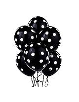 Tiger 50145 Polka Dot Large Balloon Black (Pack of 30)