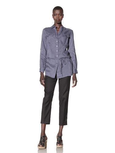 Acrobat Women's Button-Up Tunic (Sunwashed Navy)