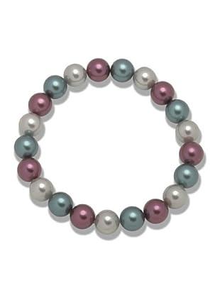Perldor 60650080 - Pulsera de mujer con perla natural Azul/Violeta 21 cm