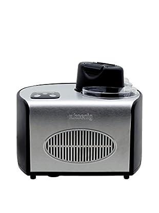 H.koenig Eiscreme Maschine HF250 schwarz/grau