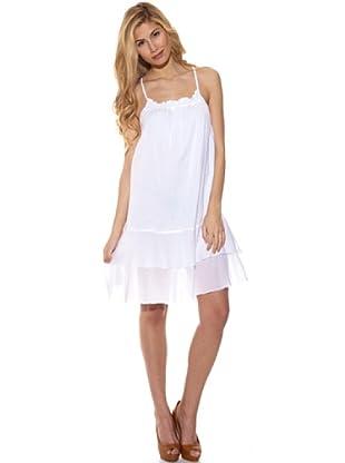Peace & Love Vestido Estampado (Blanco)