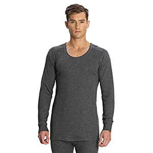 Jockey Men's Cotton Thermal Top (8901326014448_2401-0105-CHAML Charcoal melL)