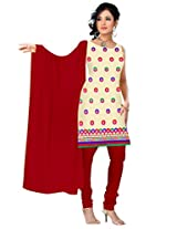 vardhman Chiku Chanderi Straight Dupata Work Dressmaterial Suit.