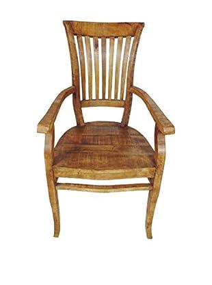 Moti Napa Arra Finish Arm Chair, Brown