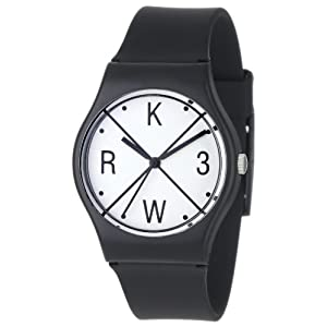 KR3W Men's K1341-BLKX Freshman Black X Watch