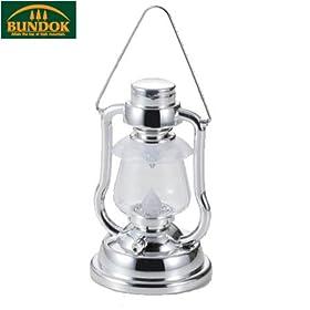 【クリックでお店のこの商品のページへ】BUNDOK(バンドック) LEDレトロランタン シルバー×ブラック BD-287