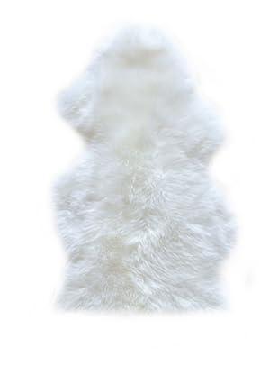 Natural Brand New Zealand Sheepskin Rug, Natural, 2' x 3'
