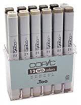 Copic Originals Warm Gray Set (12 pc)