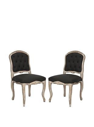 Safavieh Set of 2 Carissa Side Chairs, Black