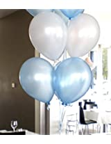 Grand Shop 50312 Balloons, Light Blue/White (Pack of 50)