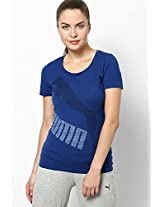 Blue Polyester Blend Top