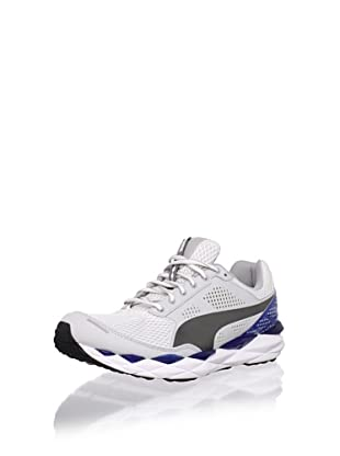PUMA Men's Pumagility Elite Running Shoe (White/Grey Violet/Snorkel Blue)