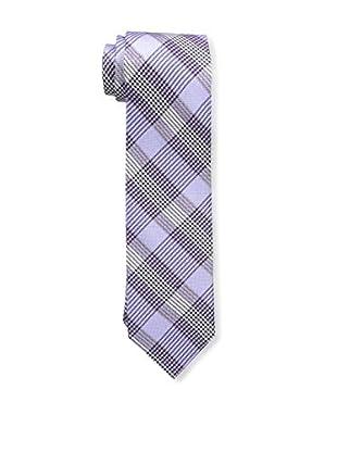 Bruno Piattelli Men's Plaid Tie, Lilac