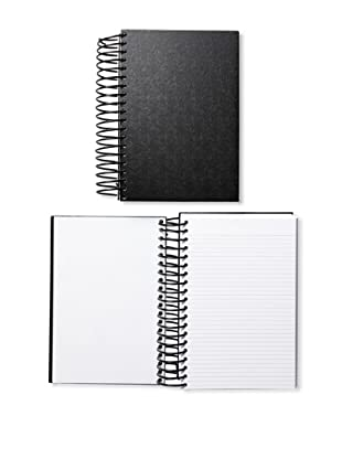 Michael Rogers Press Jumbo Journal, Glossy Black, Set of 2