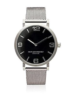 South Lane Reloj de cuarzo Unisex Signature Silver Steel 40 mm