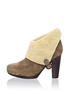 André Assous Women's Babe Faux Shearling Bootie (Deserto)