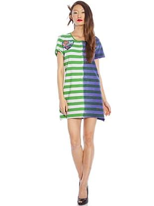 Custo Vestido (verde / morado)