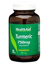 Health Aid Turmeric 750mg - 60 Tablets