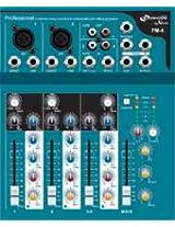 NX Audio Proton FM4 Live Sound 4Ch Mixer