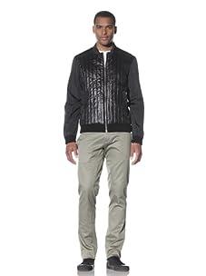 Adidas SLVR Men's Quilted Blouson Jacket (Black)