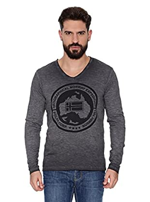 Geographical Norway Camiseta Manga Larga ML Jabo Ls Men 402 (Gris)