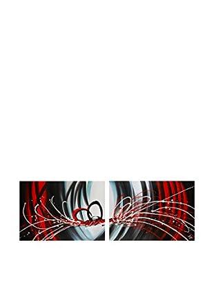 Arte Dal Mondo Set Lienzo 2 Uds. Edgar Ramirez Dipinto Astratto